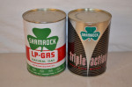 Shamrock Oil Metal Cans