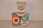 Phillips 66 Motor Oil Round Metal Cans