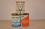 Deep Rock Motor Oil Round Metal Cans