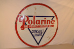 Polarine Single-Sided Porcelain Sign