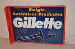 Gillette Tin Flange Sign