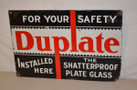 Duplate Single-Sided Porcelain Sign
