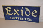 Exide Batteries Single-Sided Tin Tacker Sign