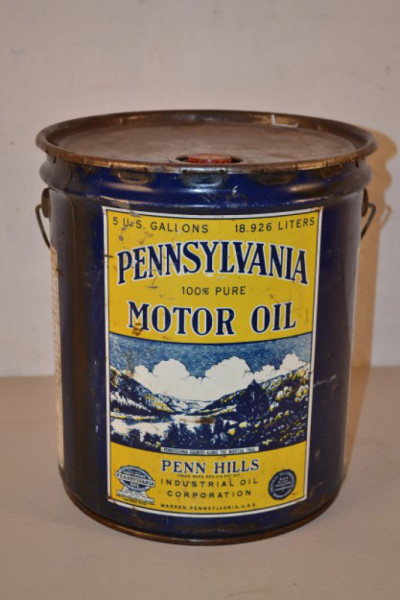 Pennsylvania motor oil bucket antique advertising value for Gallon of motor oil price
