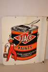 Ojaco Paints Porcelain Flanged Sign