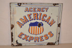 American Express Single-Sided Porcelain Sign