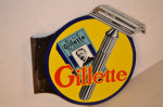 Gillette Porcelain Flange Sign