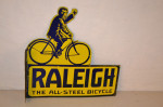 Raleigh Bicycle Porcelain Flange Sign