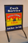 Royal Crown Cola 2-Single-Sided Tin Embossed Signs