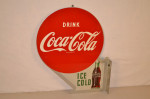 Coca-Cola Tin Flange Sign