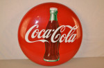 Coca-cola Single-Sided Porcelain Button Sign