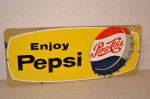 Pepsi-Cola Single-Sided Porcelain Sign