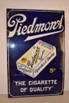 Piedmont Cigarette Single-Sided Porcelain Sign