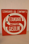 Standard Oil Company Double-Sided Porcelain Flange Sign
