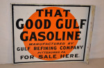 Gulf Porcelain Flange Sign