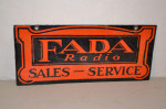 Fada Radio Single-Sided Porcelain Sign