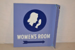Women's Room Porcelain Flange Sign