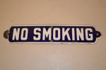No Smoking Single-Sided Porcelain Diecut Sign