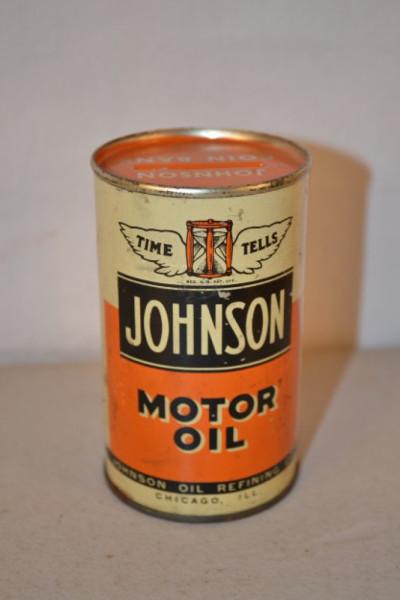Johnson Motor Oil Oil Can Bank Antique Advertising Value