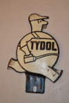 Tydol Oil Single-Sided Tin Diecut License Plate Topper