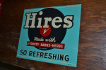 Hires Root Beer Single-Sided Tin Tacker Sign