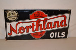 Northland Oils Single-Sided Tin Sign