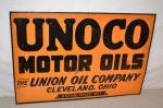 Unoco Motor Oil Single-Sided Tin Embossed Sign