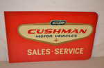 Cushman Motors Double-Sided Tin Sign