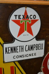 Texaco Single-Sided Porcelain Diecut Sign