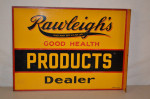 Rawleighs Tin Flange Sign