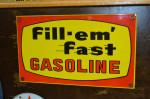 Fill-em' Fast Gasoline Pump Plate