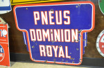 Pneus Domion Royal Double-Sided Porcelain Diecut Sign