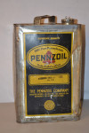 Pennzoil Motor Oil Square Metal Can
