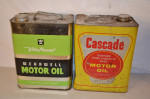 Vita Power & Cascade Motor Oil Rectangle Metal Cans