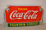 Drink Coca-Cola Single-Sided Porcelain Diecut Sign