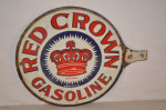 Red Crown Gasoline Diecut Paddle Sign