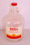 Shell Glass Oil Bottle With Painted Label