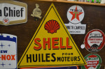 Shell Double-Sided Porcelain Diecut Sign