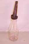 Averill Dairy Co Embossed Glass Oil Bottle