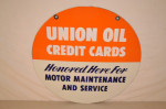 Union Oil Double-Sided Porcelain Sign