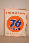 Union 76 Regular Gasoline Pump Plate Embossed Sign