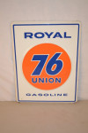 Union 76 Royal Gasoline Pump Plate Embossed Sign