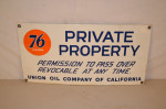 Union 76 Single-Sided Porcelain Sign