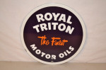 Royal Triton Single-Sided Porcelain Sign
