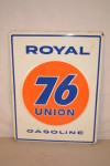 Union 76 Pump Plate Embossed Sign