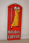 Hills Bros Coffee Porcelain Thermometer