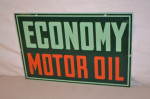 Economy Motor Oil Single-Sided Tin Sign