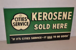 Cities Service Tin Flange Sign
