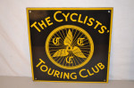 The Cyclists' Touring Club Single-Sided Porcelain Sign