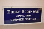 Dodge Brothers Double-Sided Porcelain Sign